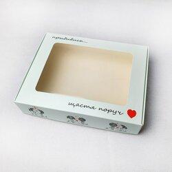 Коробка для печенья,пряников с окошком 192х148х40 мм Счастье