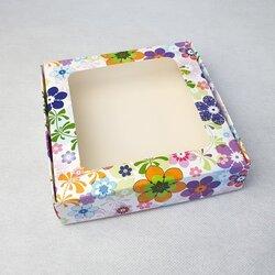 Коробка для пряников, печенья с окошком 150х150х35 мм Весна
