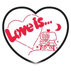 Трафарет + вырубка Love is №3