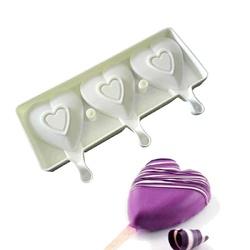 Форма силіконова для євродесертів морозиво Сердце 3 шт