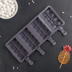 Форма силиконовая для евродесертов мороженное Плитка 4 шт