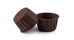 Форма паперова для кексів з закритим бортиком коричнева, 50*40 мм 25 шт