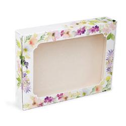 Коробка для пряників з віконцем 200х150х30 мм Весняні квіти