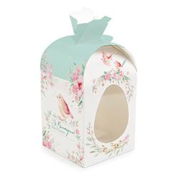 Коробка пасхальная 110х110х140 мм №7 Голубая птичка ( с куполом высота 190 мм )