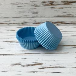 Форма для кексів ніжно-блакитна 50х30 50шт. (Однотонна)