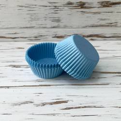 Форма для кексов нежно-голубая 50х30 50шт.(однотонная)