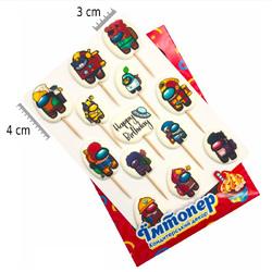 Набор сахарных топперов №2 Амонг Ас (Among Us)
