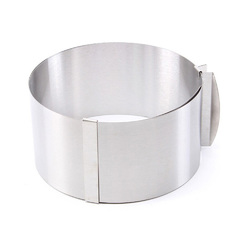 Форма металическая раздвижная круг №7 д16-30 см высота 12 см Китай