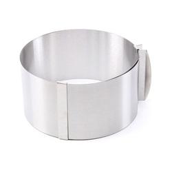 Форма металическая раздвижная круг №8 д16-30 см высота 14 см Китай