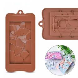 Форма силиконовая Плитка шоколада Битое стекло