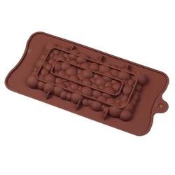 Форма силиконовая Плитка шоколада Пузырьки