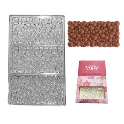 Полікарбонатна форма для шоколаду Плитка Бульбашки