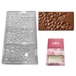 Полікарбонатна форма для шоколаду Плитка Бите скло №1