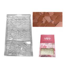 Полікарбонатна форма для шоколаду Плитка Бите скло №2