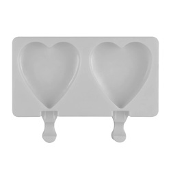 Форма силіконова для євродесертів морозиво Сердце 2 шт №1