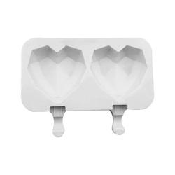 Форма силіконова для євродесертів морозиво Сердце Origami 2 шт №2