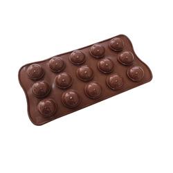 Форма силиконовая для конфет Сфера из 15 ед. на планшетке.