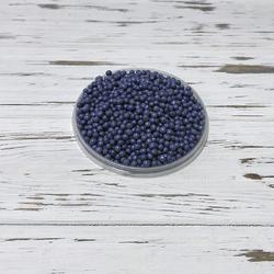 Рисові кульки перламутрові неоново-сині 3 мм - 100г