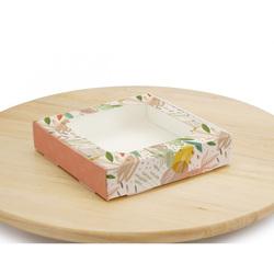 Коробка для сладостей с окошком 150х150х30 мм Осень
