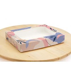 Коробка для пряников с окошком 200х150х30 мм Абстракция
