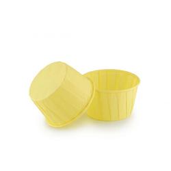 Форма паперова для кексів з закритим бортиком жовта, 50*40 мм 25 шт