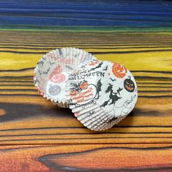 Форма для кексов Хелоуин-3 50х30 50шт.(черно-оранжевые)