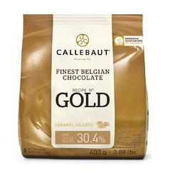 Шоколад білий з карамеллю Callebaut Gold 30.4% - 0.4 кг Оригінальна упаковка (CHK-R30GOLD-E0-D94)