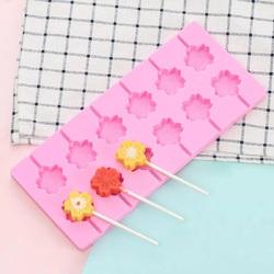 Форма силіконова для льодяників Lolli Pop Квітка з 12 шт+ 20 паличок