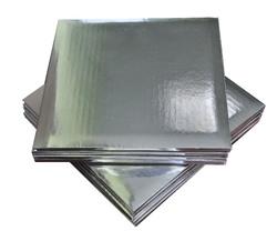 Поднос квадратный 25х25 см сер/сер