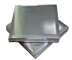 Поднос квадратный 35х35 см сер/сер