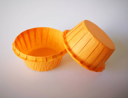 Форма паперова для кексів з бортиком помаранчева, 55 * 35 мм 25 шт