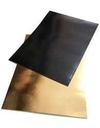 Подложка прямоугольная 30х40 см черная/золото