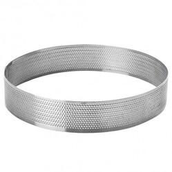 Форма металическая круг перфорированный D-200мм высота 2,5 см