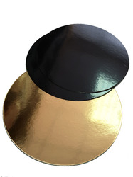 Подложка круглая D28 черная/золото