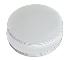 Поднос круглый d 25 см бел/бел