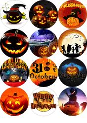 Картинка для маффинов,капкейков Хеллоуин №166