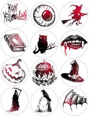 Картинка для маффинов,капкейков Хеллоуин №168