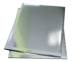 Поднос прямоугольный 35х45 см сер/сер