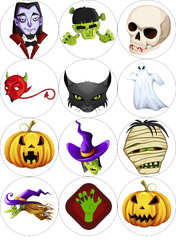 Картинка для маффинов,капкейков Хеллоуин №172