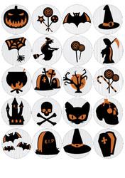 Картинка для маффинов,капкейков Хеллоуин №174