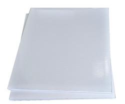 Поднос прямоугольный 30х40 см бел/бел