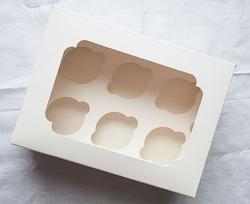 Упаковка на 6 кексов с окошком 255х190х100