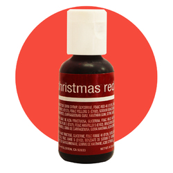 Гелевый краситель Chefmaster Liqua-Gel Christmas Red (рождественский красный) 21 г.