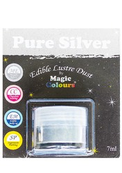 Блискучий пилок Срібний (Pure Silver) Magic Colours Lustre Dust (Меджік Колорс Ласте Дасть) 7 мл