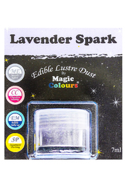 Блискучий пилок Лавандовий (lavender Spark) Magic Colours Lustre Dust (Меджік Колорс Ласте Дасть) 7 мл