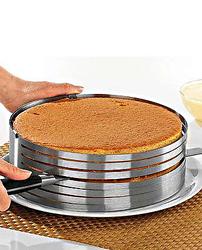 Форма раздвижная для резки бисквита 24-30 см