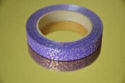 Декоративная лента 2*50 цвет сиреневый