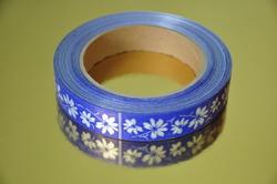 Декоративная лента 2*50 цвет синий
