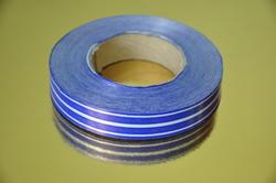 Декоративная лента 2*100 с рисунками, цвет синий