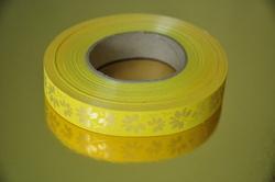 Декоративная лента 2*100 с рисунками, цвет желтый